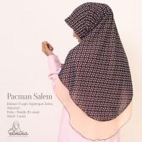 Jilbab / Hijab / Kerudung / Khimar Elmina Zahra motif - Pacman Salem