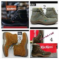 harga Sepatu Boots Kickers Coklat 6 Lubang Tali Pria Wanita Tokopedia.com