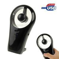 Ultra Quite Mini USB / Battery Cell Cooling Fan - HH-U517 - Black
