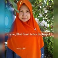 Zoysia Jilbab Semi-instan Segi Empat Bahan Wolvis