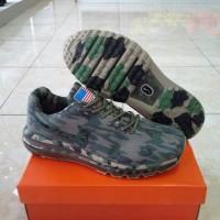 Murah Sepatu Nike AirMax Camo Army 2014 Men, Hijau Tua