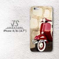 Vespa Red iPhone Case Red Wallpaper 4 4s 5 5s 5c 6 6s Plus hardcase