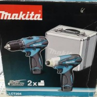 Makita LCT204 Paket Bor Dan Obeng Cordless Batere Battery