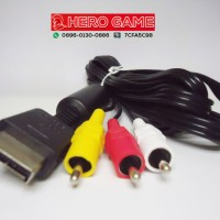 KABEL AV PS2 PS3 / CABLE RCA PS2 ORIGINAL MESIN