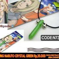 kalung naruto kristal hijau, hokage,necklace stunade (spade anime)