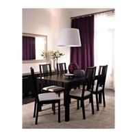 Meja Makan Extendable Ikea Bjursta 6 Seat
