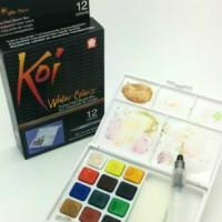 SAKURA Koi Watercolor 12 Colors Set / Cat Air Merk Sakura Koi 12 Set