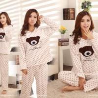 St Sleep Hodie Bear / Baju Tidur Wanita / Baju Tidur Murah / Setelan Baju