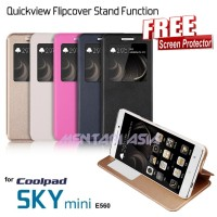Flipcover Coolpad SKY MINI E560 : Quickview Stand Function (+ FREE SP)