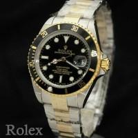 jam tangan Rolex submariner kombinasi hitam automatic grade original