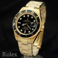 jam tangan Rolex submariner gold hitam automatic grade original