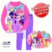 Piyama Flashing Light - J2 1101 - My Little Pony Pink (2-7 Tahun)