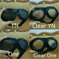 harga Kacamata Retro Clear Putih Bening Hitam Untuk Helm Bogo Dan Pilot Tokopedia.com