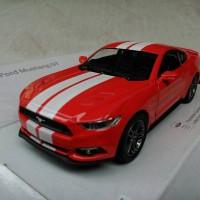 Ford Mustang GT 2015 Merah Garis (Miniatur Mobil 1/32 Kinsmart)