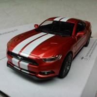 Ford Mustang GT 2015 Maroon Garis (Miniatur Mobil 1/32 Kinsmart)