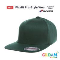 Jual 6677 Flexfit Pro-Style Wool [Topi hip-hop Snapback Yupoong Original] Murah