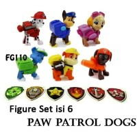 FG110 Figure Set Isi 6 Paw Patrol Dogs