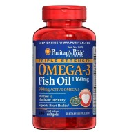Puritan Pride Triple Strength Omega 3 Fish Oil 1360mg - 240 Softgels