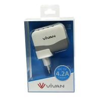 Vivan Charger XC4S | Super Charger | 4.2 Output | 4 Port Usb