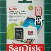 Micro Sd Sandisk  u class 10/ memori hp 8GB kecepatan 48mb/s