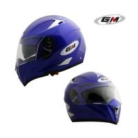 harga Helm Gm Airbone Solid Fullface Full Blue Double Visor Tokopedia.com