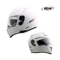harga Helm Gm Airbone Solid Fullface Fullface White Double Visor Tokopedia.com
