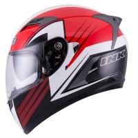 Helm INK Duke Full Face Fullface Black Red Double Visor
