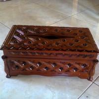 tempat tisu/Kotak Tisu kayu Jati