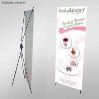 harga Cetak X-banner 60x160 Cm.  Rangka Fiber Standar. Promo ! Termurah ! Tokopedia.com