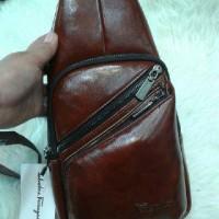 Jual SHOULDER BAG/tas selempeng pria,kulit import. Murah