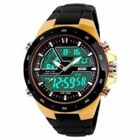 Jam Tangan Original SKMEI Men Sports Watches 50m Waterproof Gold