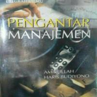 harga Pengantar Manajemen By Amirullah Tokopedia.com