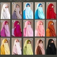 Jilbab Cadar Niqab Purdah Bertali Instan Malaysia Jilbabest