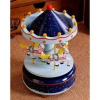 harga Yi2_jl2 Home Decor Wooden Carousel Music Box - Kotak Musik Berputar Tokopedia.com