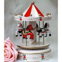 harga Yi2_jl11 Home Decor Wooden Carousel Music Box - Kotak Musik Berputar Tokopedia.com