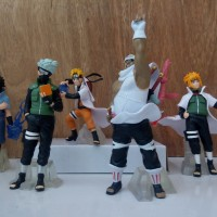 Action Figure Naruto, Kakashi, Killer Bee, Minato, Sasuke - (TPT:01)