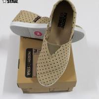 North Star 8199 - Sepatu Flat Wanita Canvas Casual Brown