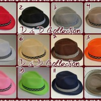 Jual Topi Anak | Topi Fedora jazz anak motif Polos | Grosir Topi Murah Murah