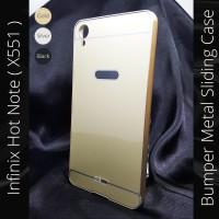 Infinix Hot Note X551 Bumper Metal Case Sliding Cover X 600 Aksesoris