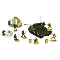 Miniatur Panser Tank Diecast Dan Serdadu US M10 Forces Of Valor 1:72.