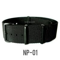 [NP-01] Tali Jam Nato PVD Black Buckle Strap