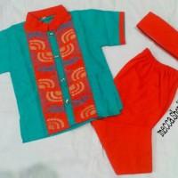 Baju Koko Anak Full Katun (size 7-9)