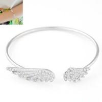 harga gt383 gelang korea bangle angel wing (silver) Tokopedia.com