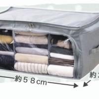 Storage Box 2 Pintu Foldable Cloth Organizer Bamboo Charcoal Storage