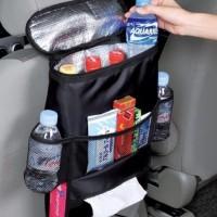 Black Auto Seat Car Dining Tray Bag Organizer Gantungan Botol Cemilan