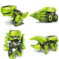 Jual Mainan Edukasi Robot Tenaga Surya - 4 in 1 Transforming Solar Robot Murah