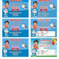 Undangan Ultah Anak Tema Doraemon ( tanpa minimal Order )