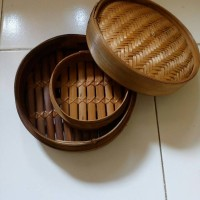 Kukusan Dimsum 20cm / Somay, Kukusan Bambu, Dimsum Set, Klakat Bambu