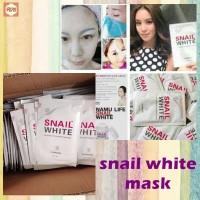 MASKER SIPUT SNAIL WHITE PEMUTIH WAJAH KOREA / SNAIL WHITE FACE MASK