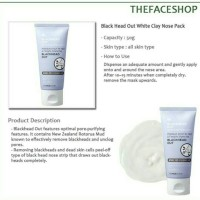 THE FACESHOP - Blackhead Out White Clay Nose Pack